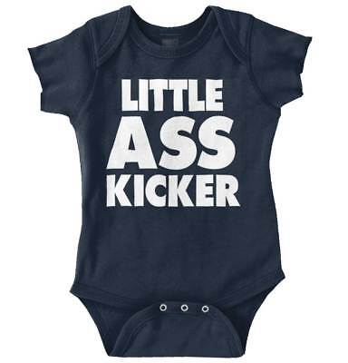 Little Ass Kicker Walking Funny Cute Dead Zombies Baby Romper Bodysuit