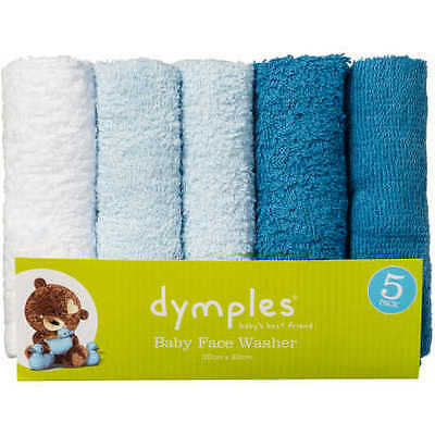 NEW Dymples Face Washer 5 Pack