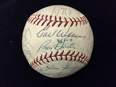 1970 ? Baltimore Orioles Team Signed Autographed Baseball WORLD SERIES CHAMPIONS