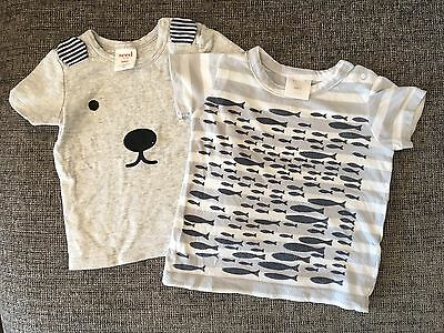 Seed Baby Boy T-shirts 0-3 Months X 2