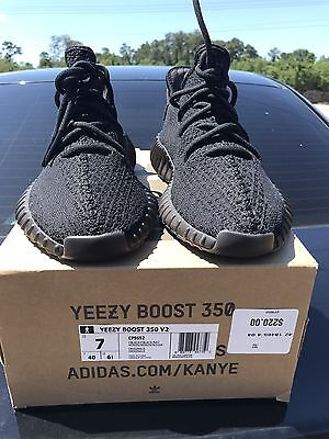 Adidas Yeezy 350 Boost V2 Pirate Bred Black Red/ Core Red Size 7