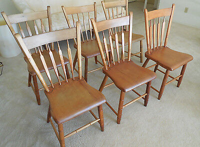 6 Antique Chairs Made in Lancaster County - Amish - 100+ years old - No Shipping
