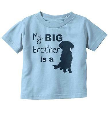 Big Brother Dog Funny Animal Pet Cute Puppy Newborn Baby Toddler Infant T