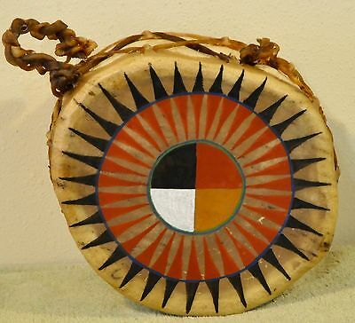 Medicine Wheel/Native American Drum Painted by Lakota Artist Sonja Holy Eagle