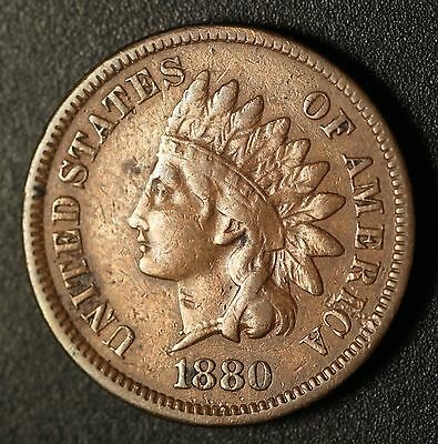 1880 INDIAN HEAD CENT - With LIBERTY - VF VERY FINE