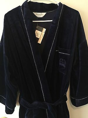 Cristian Dior Robe Vintage New With Tags Navy One Size Men's