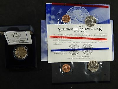 1999 United States Mint Susan B. Anthony P, D & Proof S 1$ Coins