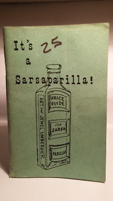 Sarsaparilla Bottle Price Guide.1968..Art & Jewel Umberger.HARD TO FIND..Buy $10