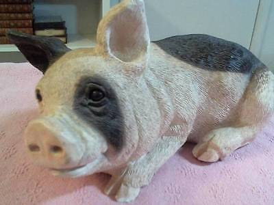 "Heavy 10"" Long Animal Classics Pig ,heavy Like Cement Cute Piggy Oink ,oink"