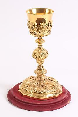 French France Silver Gilt Chalice w/ Scenes of the Life of Christ ca.  20th c.