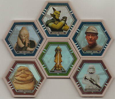 Star Wars Galactic Connexions Gray And Gray Foil Discs Lot Of 10 - Jabba Fortuna