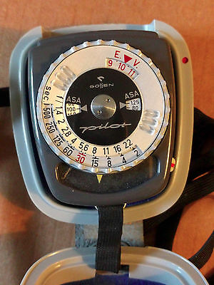 Gossen Pilot Light Meter w/Hard Shell Case  Made in Germany - Tested - Excellent