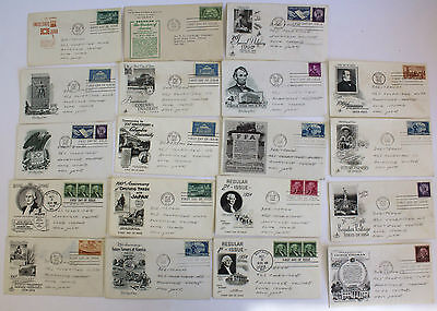 19 First Day Covers Cacheted 1950-54 Envelopes Stamps Banker Rockville Ctr