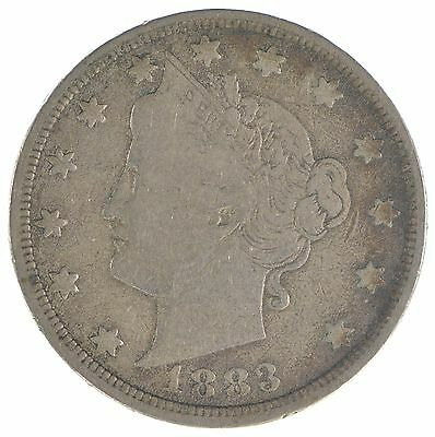 1883 'NO Cent' Liberty V Nickel - Tough - First Year Issue *735