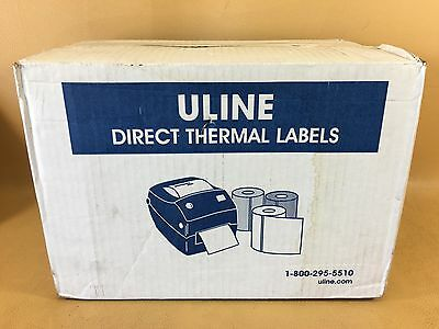 New Uline 12 Rolls 4 X 6 Direct Thermal Labels S-6802