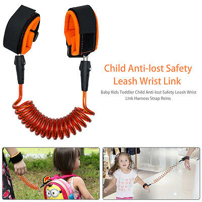 UK Baby Kids Toddler Child Anti-lost Safety Leash Wrist Link Harness Strap Reins