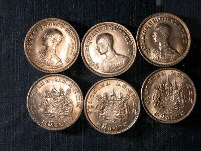 THAILAND. UNC Coins. 1-BAHT  LOT of 6 COINS. KING RAMA 9