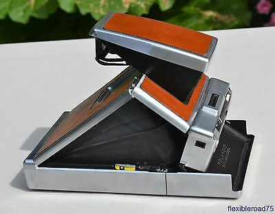 Polaroid SX-70 Land Camera Alpha 1 and Leather Case - Tested