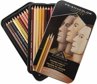 Prismacolor Premier Portrait Soft Core 24 Coloured Pencils NEW Prismacolour