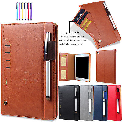 "For iPad 9.7"" 2017 /Air 2 Luxury Smart Leather Flip Stand Card Holder Case Cover"