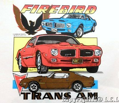 Vintage GM Pontiac FIREBIRD TRANS AM Iron On Display Picture Poster