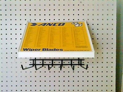 Vintage ANCO Pegboard mount wiper blade display for automobiles 1965 tru 1980