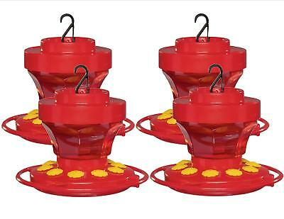 First Nature 3091 4 Pack 16 Oz Hummingbird Nectar Flower Feeder- Made in the USA