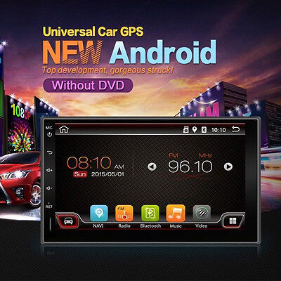 """Quad Core Android 4.4 3G*WIFI 7"""" Double 2DIN Car Radio Stereo MP5 MP3 Player GPS"""