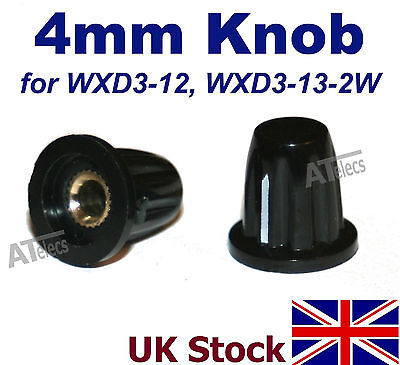 4mm Potentiometer Control Knob Cap Plastic    WXD3-12 WXD3-13-2W  - UK Stock