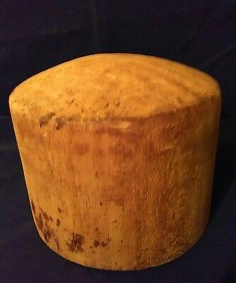 Awesome Antique Vintage Wood Cork Hat Wig Form for Display or Template!