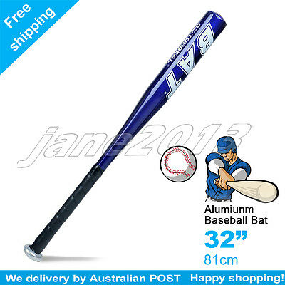"Blue-Brand New Aluminium Baseball Bat 32"" 81cm SYDNEY STOCK"