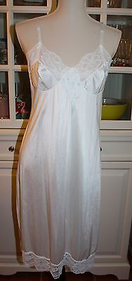 Vintage 70's Kayser WHITE Full Slip - Size 36 Nightie