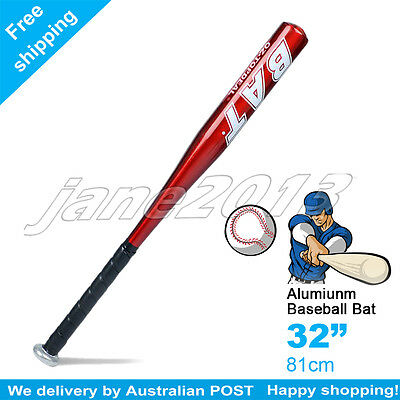 "Red-Brand New Aluminium Baseball Bat 32"" 81cm SYDNEY STOCK"