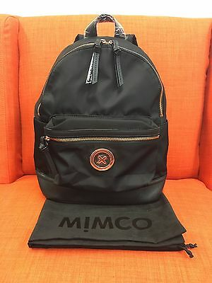 Mimco Splendiosa Backpack Bag Black Rose Gold With Dust Bag 100% Authentic