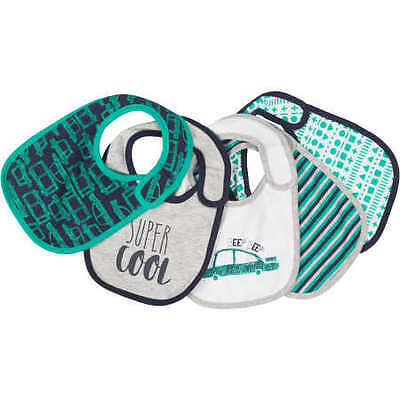 NEW Dymples 5 Pack Baby Side Fastening Bibs - Green