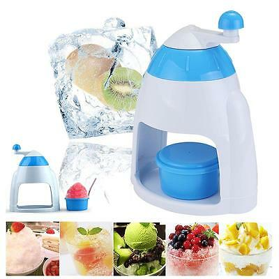 Ice Crusher Hand Shaver Snow Cone Maker Manual Machine Home Kitchen