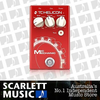 TC Helicon Mic Mechanic 2 Vocal Toolbox Effects Pedal *BRAND NEW*