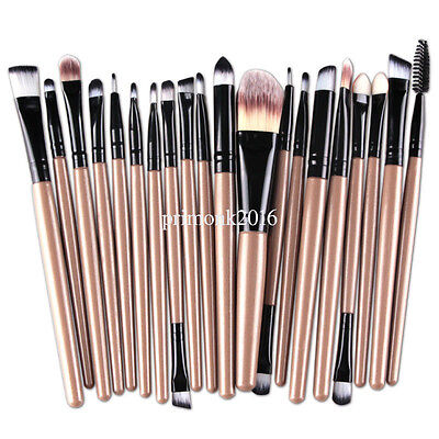 Pro 20pcs Soft Cosmetic Eyebrow Shadow Makeup Brushes Set Kit Good for Women PN1