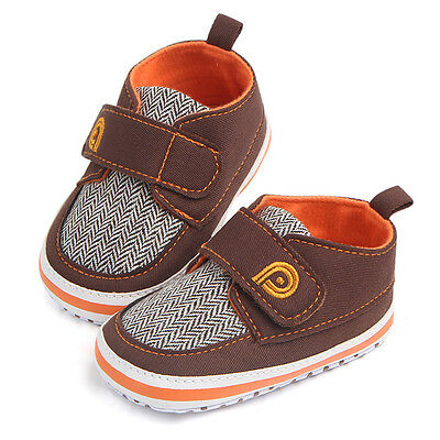 Newborn Baby Boys Infant Toddler Canvas Sneakers Soft Crib Sole Anti-slip Shoes