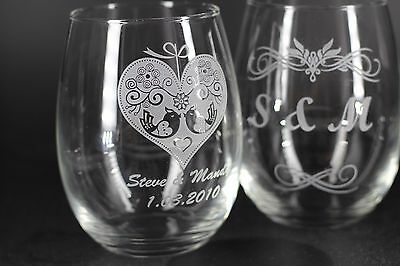 Personalized Engraving Wine Glass (FREE SHIPPING)