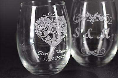 Personalized wine glass with custom engraving*HOLIDAY SPECIALS*