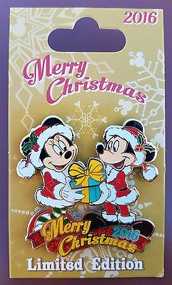 Disney Pin Merry Christmas Day 2016 Mickey & Minnie LE5000 December 25, 2016 NEW
