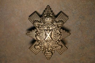 Ww1 British 'black Watch Royal Highlanders' Cap Badge