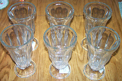 ANCHOR HOCKING SODA GLASS CUPS, Set of 6   NEW!
