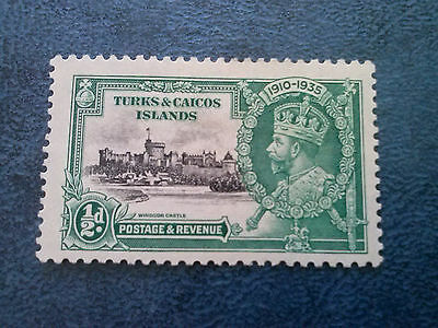 Turks & Caicos Islands Silver Jubilee 1935 ½d  mint