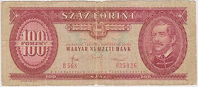 (NI-136) 1984 Hungary $100 Forint bank note (A)