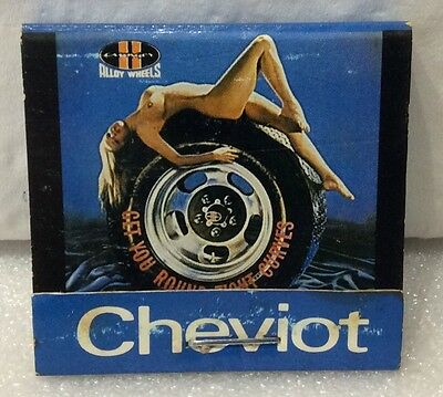 "Cheviot Matchbook. ""Aunger Alloy Wheels By Cheviot""."