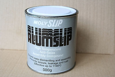 Molyslip Alumslip High Temperature Anti Seize Assembly Compound 500g tin