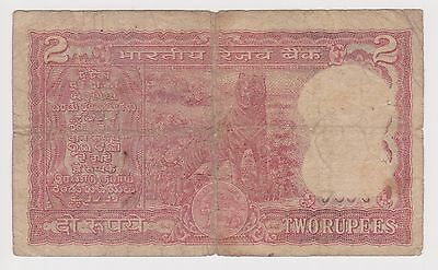 (NI-144) 1945 India 2 Rupee bank note (H)