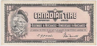 (NI-45) 1960s Canada 10c Canadian Tire PROMO bank note (D)